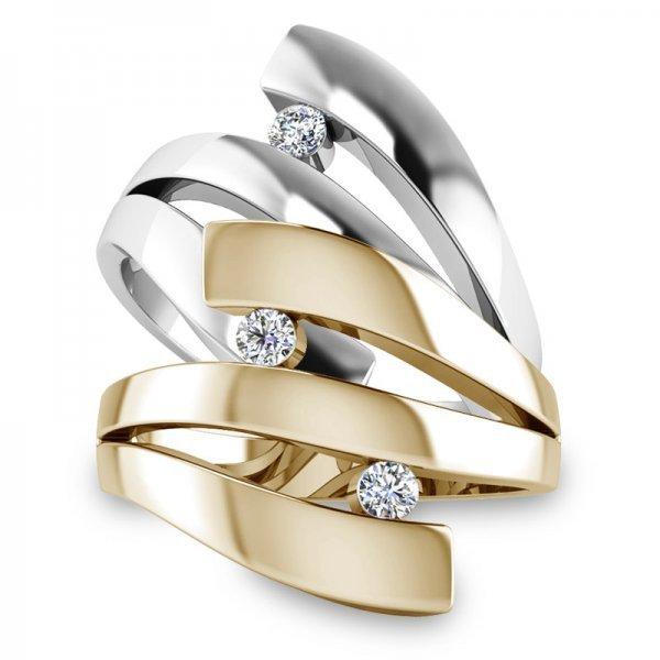 Sparkle ring 14K goud Yara