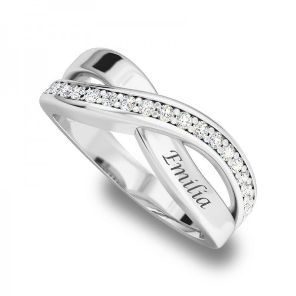 Sparkle ring zilver Robyn