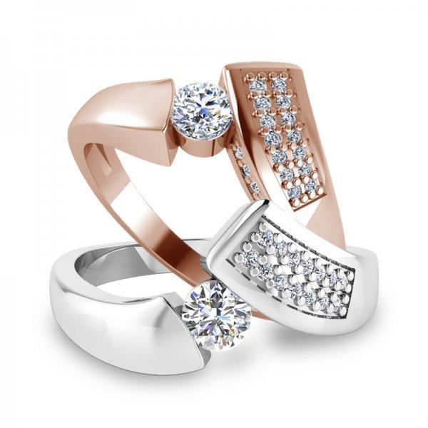 Sparkle ring 14K goud Romy