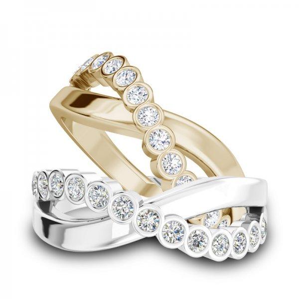 Sparkle ring 14K goud Chloë
