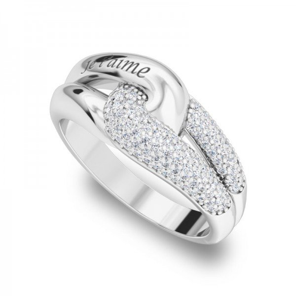 Sparkle ring zilver Quinn