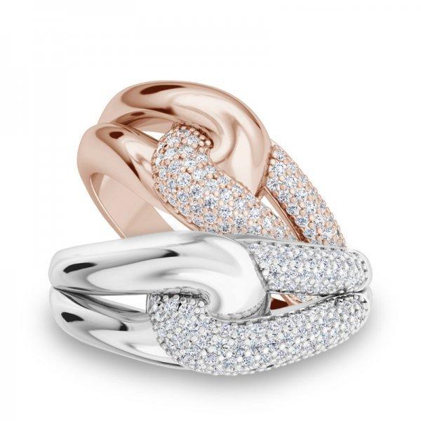 Sparkle ring 14K goud Quinn