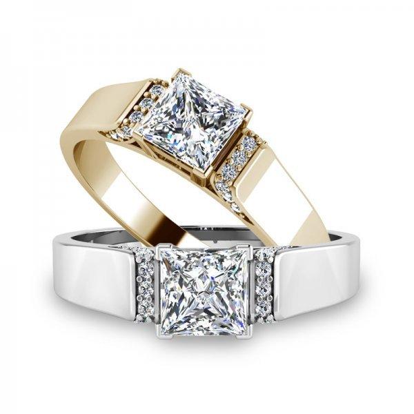 Sparkle ring 14K goud Evelyn
