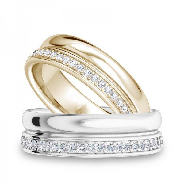 Sparkle ring 14K goud Caitlyn