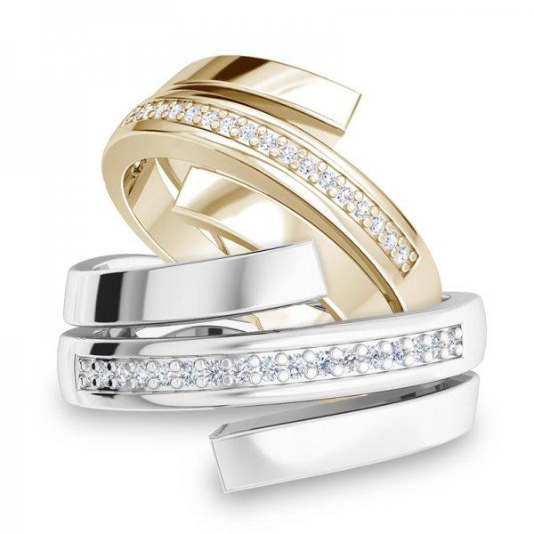 Sparkle ring 14K goud Ashley