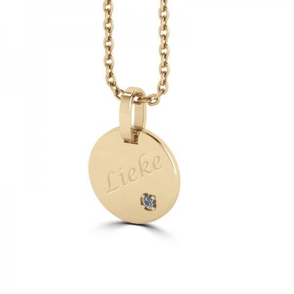 Tiny Tags hanger 14K gold Nena