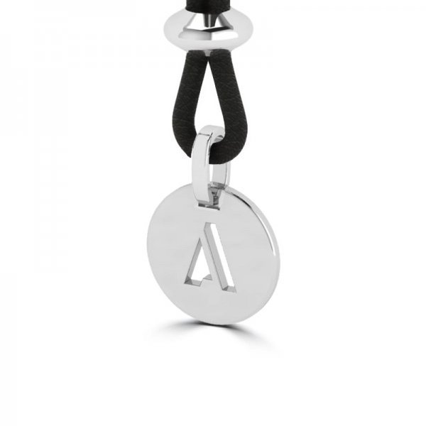 Tiny Tags pendant with leather necklace Zara