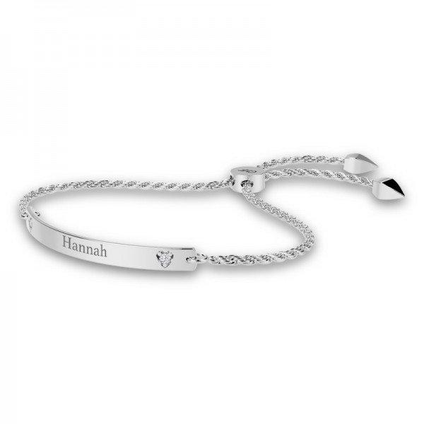 Diamond Bar sliding lock bracelet Eloise