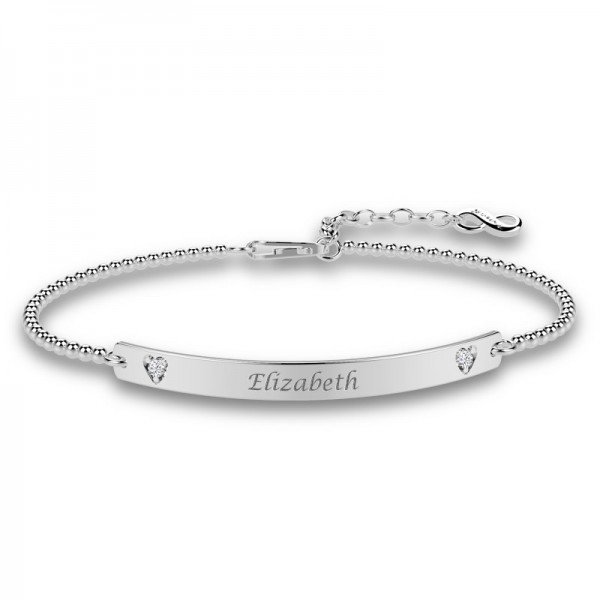 Diamond Bar stretch bracelet Eloise