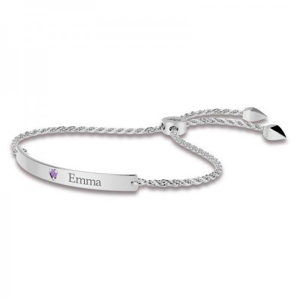 Diamond Bar sliding lock bracelet Ava
