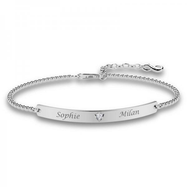 Diamond Bar stretch bracelet Ava