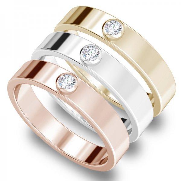 Diamond Bar ring 14K goud Joyce