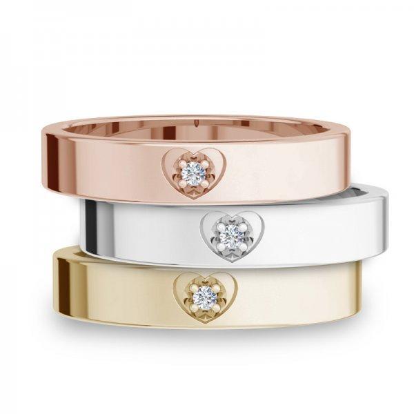 Diamond Bar ring 14K goud Alexis
