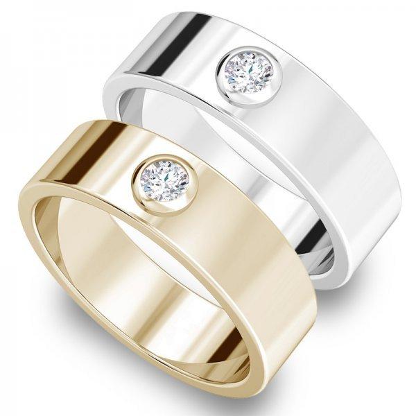 Diamond Bar ring 14K goud Lauren