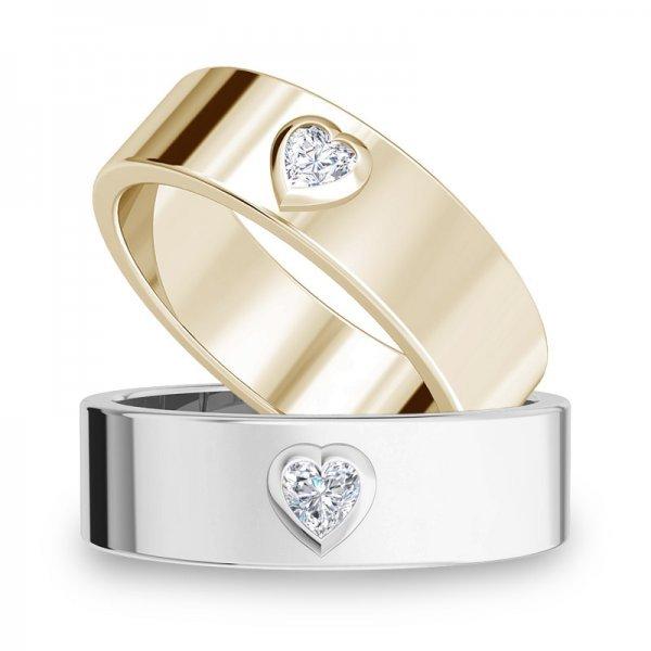 Diamond Bar ring 14K goud Macy