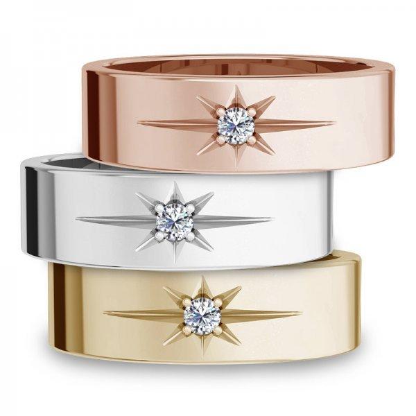 Diamond Bar ring 14K goud Stacey (2)